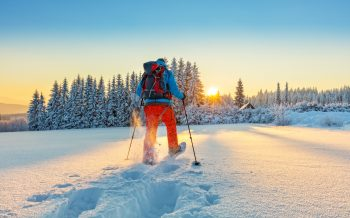 Schneeschuhwandern Hotel zur Post Schneeschuhe im Tiefschnee